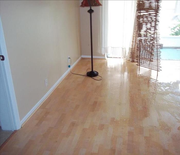 Hardwood floors water damaged in Affton