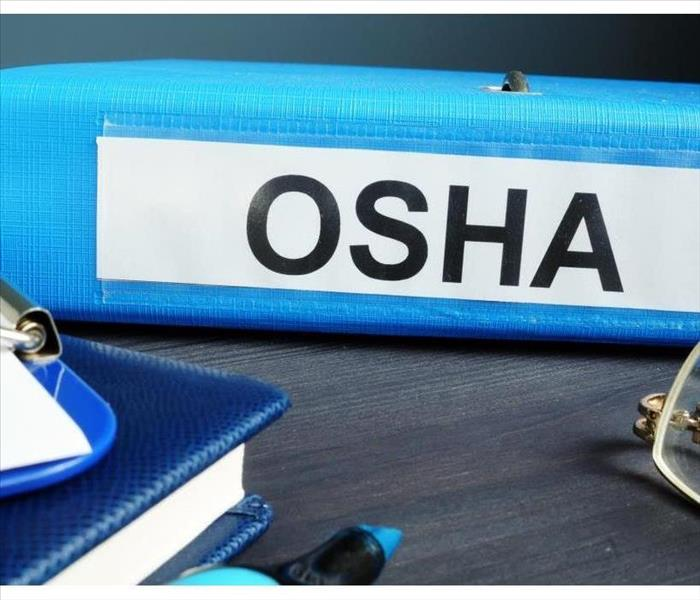 Folder with label Occupational Safety and Health Administration OSHA
